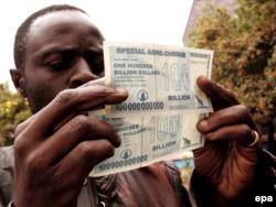 100 миллиардов зимбабвийских долларов. 2008 год.