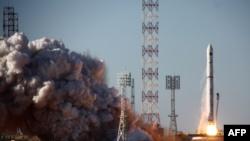 Запуск произведенной в Украине ракеты «Зенит» с Байконура в июле 2011 года.