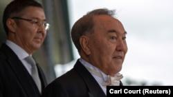 Бывший президент Казахстана Нурсултан Назарбаев после церемонии интронизации императора Японии Нарухито в Императорском дворце. Токио, 22 октября 2019 года.