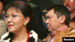 Дарига Назарбаева и ее муж Рахат Алиев. Декабрь 2005 года.