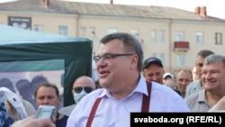 Бывший банкир Виктор Бабарико, претендент в кандидаты на пост президента Беларуси.